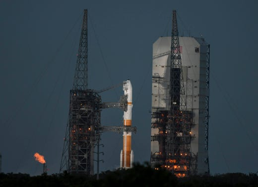 "A Delta IV rocket launches on Friday, March 15, 2019, with the WGS-10 Air Force from Cape Canaveral Air Force Station. ""Data-id ="""